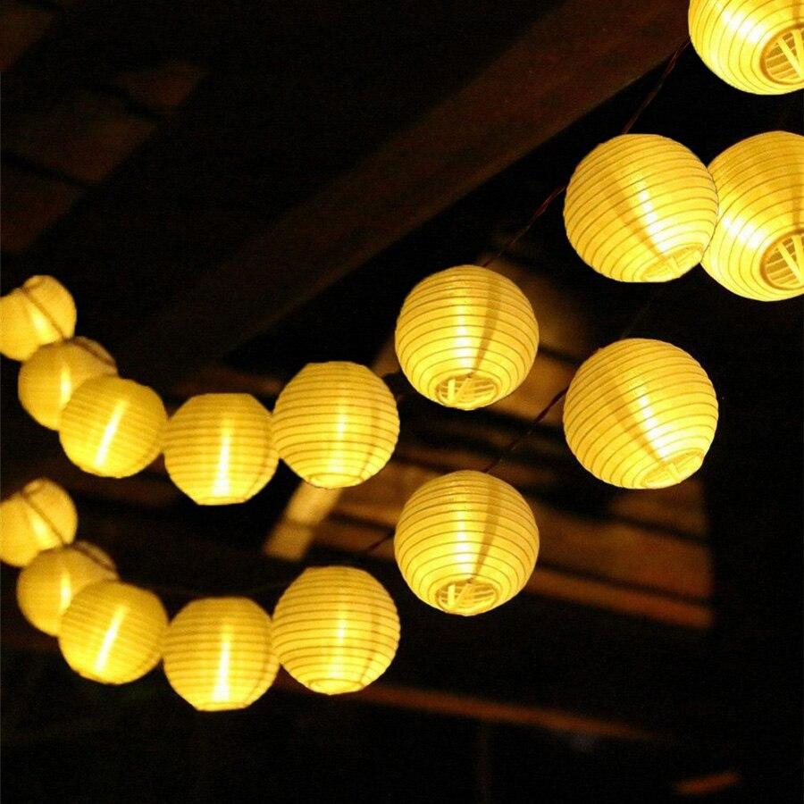 thrisdar lanterna ao ar livre bola 10 20 30 levou patio solar fada luz led string