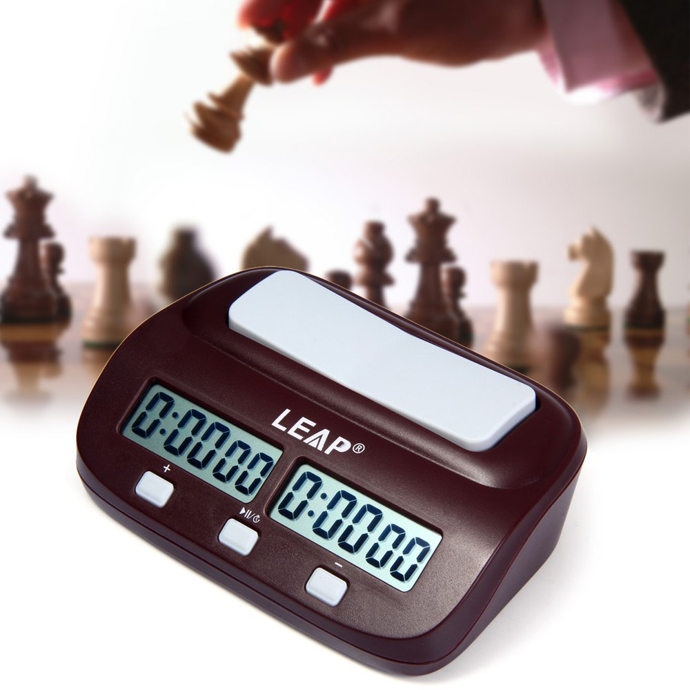 LEAP Professional Compact Digital Chess Clock Count Up Down Timer Electronic Board Game Bonus Competition Master For Drop Ship