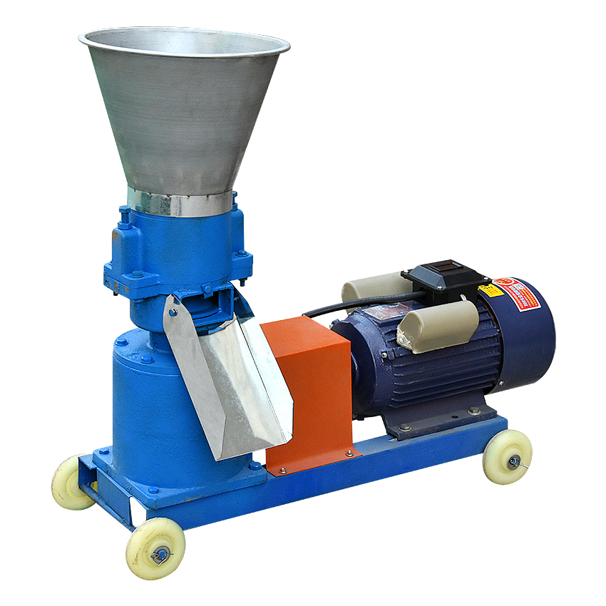 KL 125 Pellet Machine 60 100kg/h Feed Wood Pellet Mill 220V 4KW/380V 3KW Farm Animal Feed Granulator 2.5/3/4/6/8mm optional