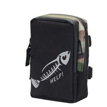 цена на BaMMax Fishing bag 17cm*12cm*5cm waterproof multifunctional canvas lure bag Outdoor Portable Fishing Tackle Pesca