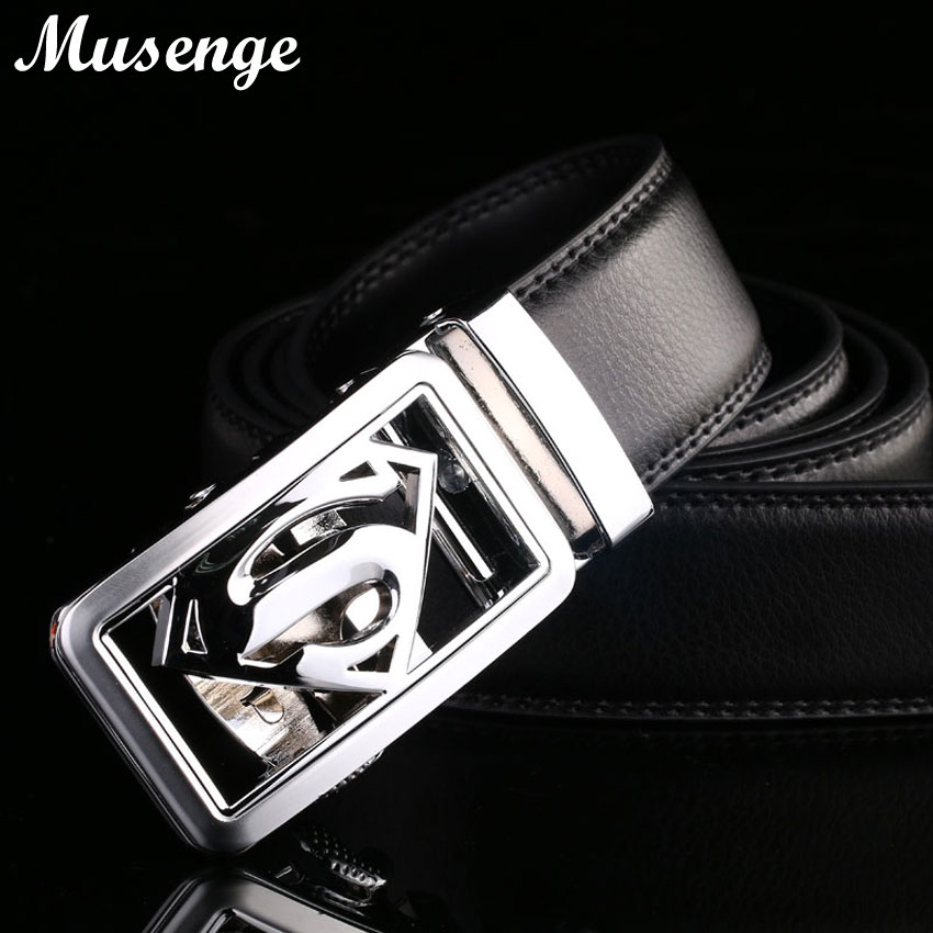 Belt Superman Real Leather Belt Men Ceintures Ceinture Homme Designer Belts Men High Quality Gold Automatic
