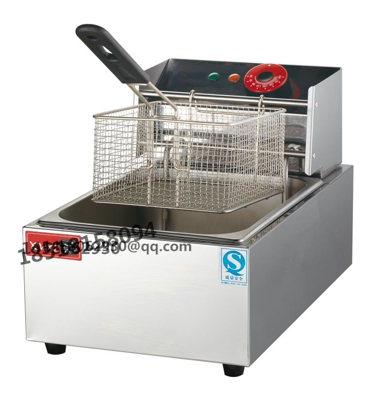 6l stainless steel heavy duty industrial electric fryer for Electric fish fryer