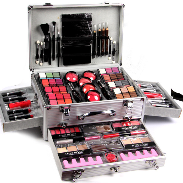 Makeup Kits 48colors Eyeshadow Blusher Powder Palette  Concealer Multicolor Lipstick Case Suitcases Professional Cosmetic Case
