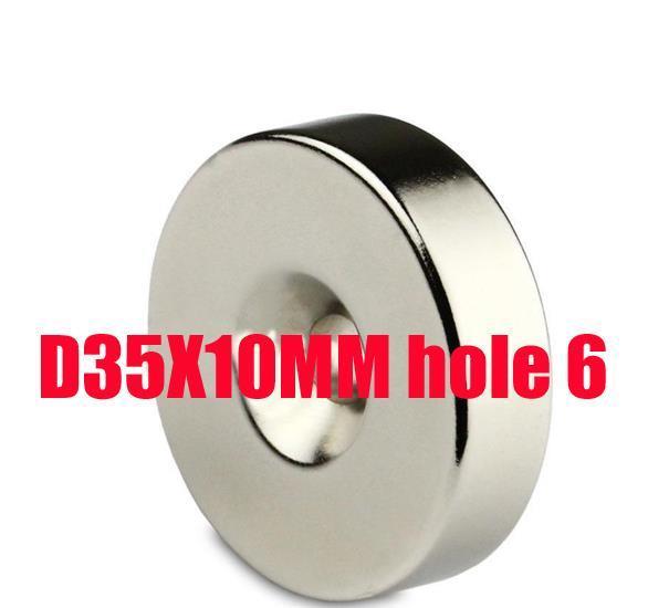 35*10 n52 magnet1 Big Round Ring Magnet 35mm x 10mm Hole 6mm Disc Rare Earth Neodymium magnets N50 цена 2017
