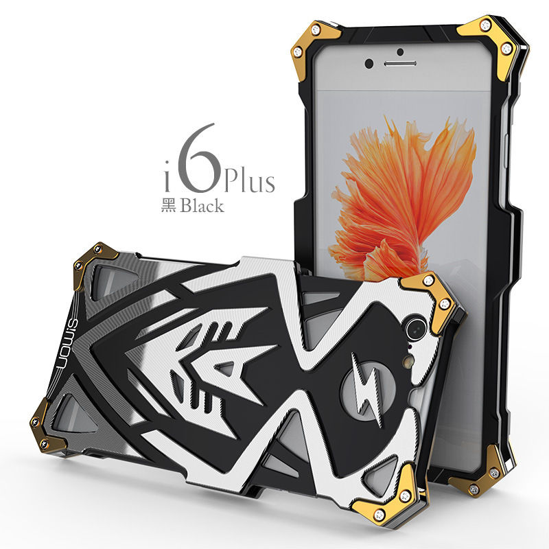Powerful Shockproof Screw Metal Case For iPhone 6 plus Zimon New Thor Series Aviation Aluminum Case Cover For iPhone 6s plus 5.5