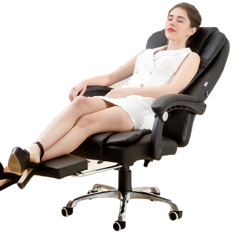 PI#3088 Computer office can lay boss swivel leisure chair lifting leather footrest multi point massage boss chair real leather computer chair home massage can lie in the leather chair solid wood armrest office chair 06