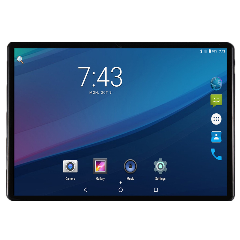 4G LET 10 pouces tablette PC ZONNYOU 10 Core Android 7.0 4 GB RAM 64 GB ROM double cartes SIM 1920x1200 IPS GPS Bluetooth tablettes 10 10.1