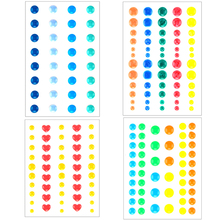 Colorful Sugar Sprinkles Self-adhesive Enamel Dots Resin Sticker for Scrapbooking/ DIY Crafts/ Card Making Decoration