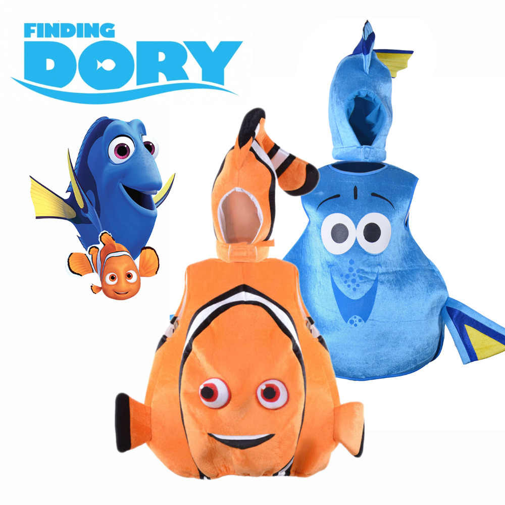 bf871265b6c Finding Dory Costume Sea Friend Nemo and Dory Cosplay Suit Funny Clown Fish  Fancy Dress Halloween