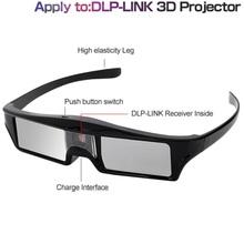 ELECTSHONG DLP 3D aktywne okulary migawkowe do Optoma Epson Sony LG Acer DLP-LINK projektory Gafas 3D Optoma DLP Link 3D okulary tanie tanio Migawki Wciągające Biocular Brak Okulary Tylko