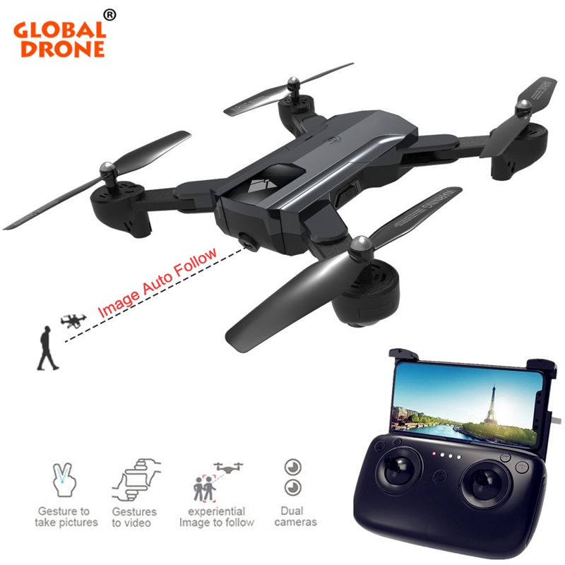 Global Drone RC Drone With Camera HD VS Eachine E58 Optical Flow Fixed-Point RC Helicopter Quadrocopter Selfie Dron пропеллеры eachine для e58 each 798063
