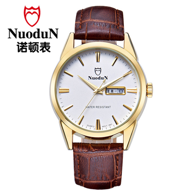 Fashion Men Quartz Watches Men Luxury Brand Men s Montre Homme Quartz Casual Wristwatch Nuodun Genuine