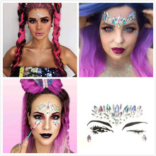 New DIY Face Jewelry Body Tattoo Drill Acrylic Drill Make-up Eyes Paste Nightclub Music Performance DanceParty Temporary Tattoos electric festival body art jewels paste diy chest drill acrylic drilling performance make up bar nightclub music party