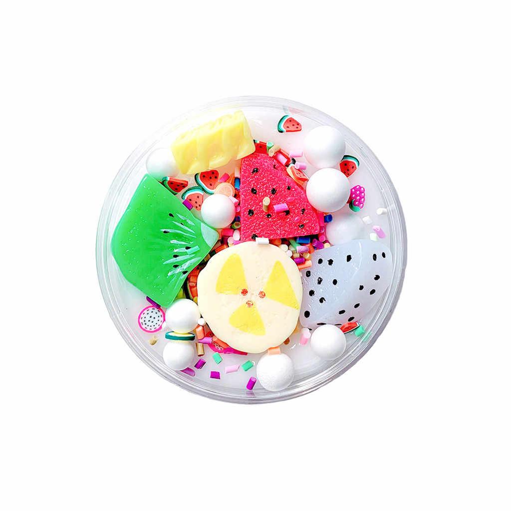 夏盛り合わせスライム解凍おもちゃ泥美しいフルーツバナナ解凍子供キッズ教育玩具 2019 新