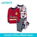 Ajuste Confortável Algodão de carter 4 pcs do bebê dos miúdos das crianças PJs 321G225, vendido por carter oficial da China loja