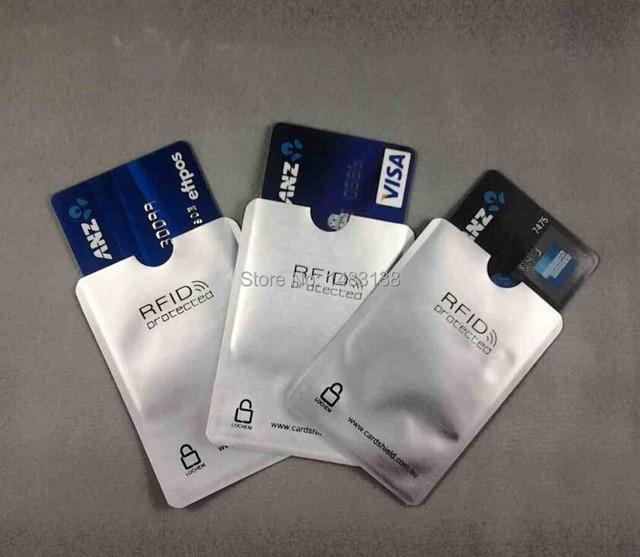 1000pcs Lot Anti Scan Rfid Blocking Card Sleeve Blocker Id Credit Secure Aluminum