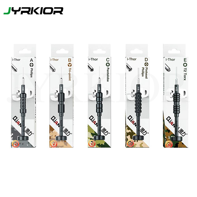 Jyrkior QIANLI 3D Bolt Screwdriver Set For IPhone/Samsung Cell Phone Disassemble Tools Kit