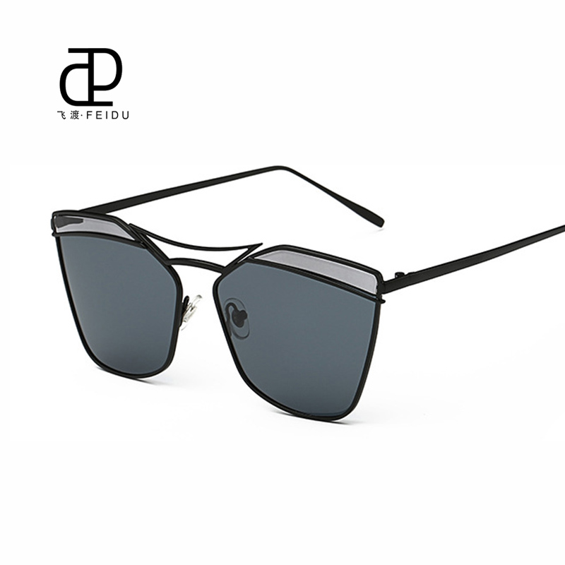 Conscientious Feidu Couple Models Sun Glasses Women Metal Temples Sunglasses Gradient Retro Luxury Brand Designer Driving Coating Mirror Uv400 Apparel Accessories