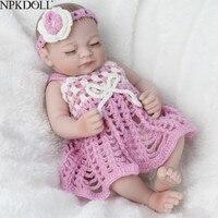 NPKDOLL Mini 10 Inch 25cm Ful Body Silicone Reborn Dolls Clothes Fashion Realistic Girl Doll Toy For Girls Newborn Bebes Reborn