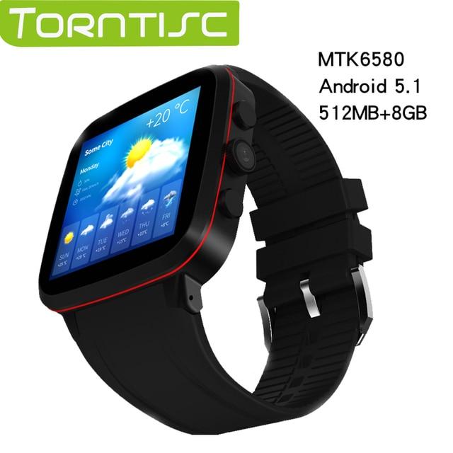 Torntisc GPS Смарт-часы N8 Android 5.1 MTK6580 Встроенная память 8 ГБ Оперативная память 512 МБ с Камера 5.0 м WI-FI 3 г SIM SmartWatch телефон Носимых устройств