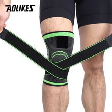 AOLIKES 1PCS 3D Weaving Compression Knee Brace Basketball Tennis Hiking Cycling Knee Support Protective Sports Kneepads(China)