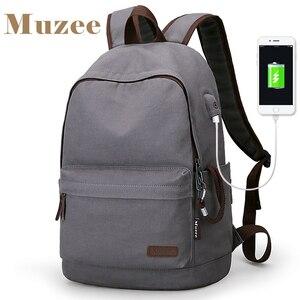 Image 1 - Muzee sac à dos en toile Anti vol pour les étudiants, Design avec chargeur USB, Design pour adolescents, sac à dos de voyage, nouvelle collection