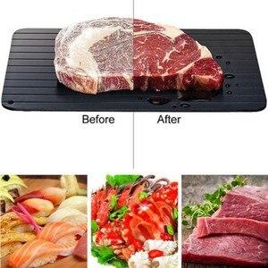 Meijuner سريع إزالة الجليد صينية ذوبان الجليد طعام مجمد اللحوم الفاكهة سريعة إزالة الجليد ألواح مسطحة تذويب المطبخ أداة أداة