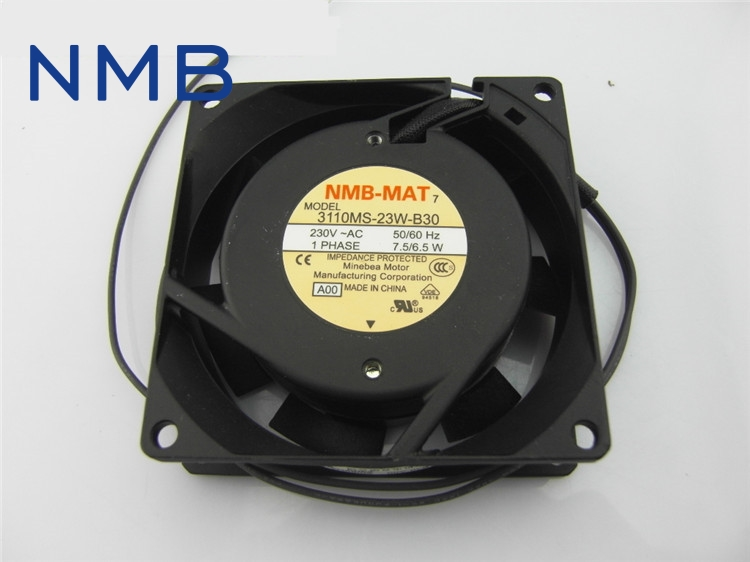 NMB New original Cabinet 3110MS-23W-B30 230V instrumentation of axial fan cooling fan 80*80*25mm free shipping nmb cooling fan 3610ps 22t b30 220v instrumentation axial 92 92 25mm page 1