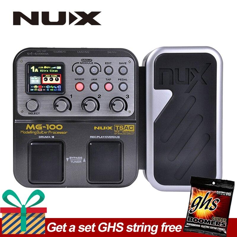 NUX MG-100 MG100 Modélisation Guitare Processeur Guitare Pédale D'effet Tambour Tuner Enregistreur Multi-fonction Avec Guitare Modélisation Processeur