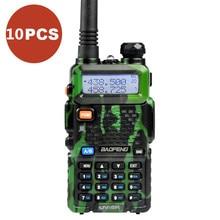 10PCS Camouflage Portable Radio Set BaoFeng UV-5R Dual Band VHF/UHF Two Way Radio Walkie Talkie Communicator Transceiver