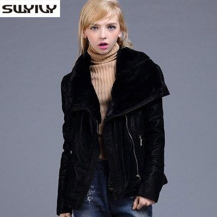 Здесь продается  Big Turn Down Collar Winter Coat Composite Lamb Fur Lining Suede Jackets Woman British Fur Coat Female Warm Leather Abrigo  Одежда и аксессуары