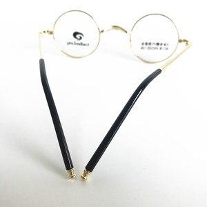 Image 5 - בציר קטן 40mm עגול משקפיים מסגרות מתכת שפה מלאה אופטי יוניסקס משקפיים
