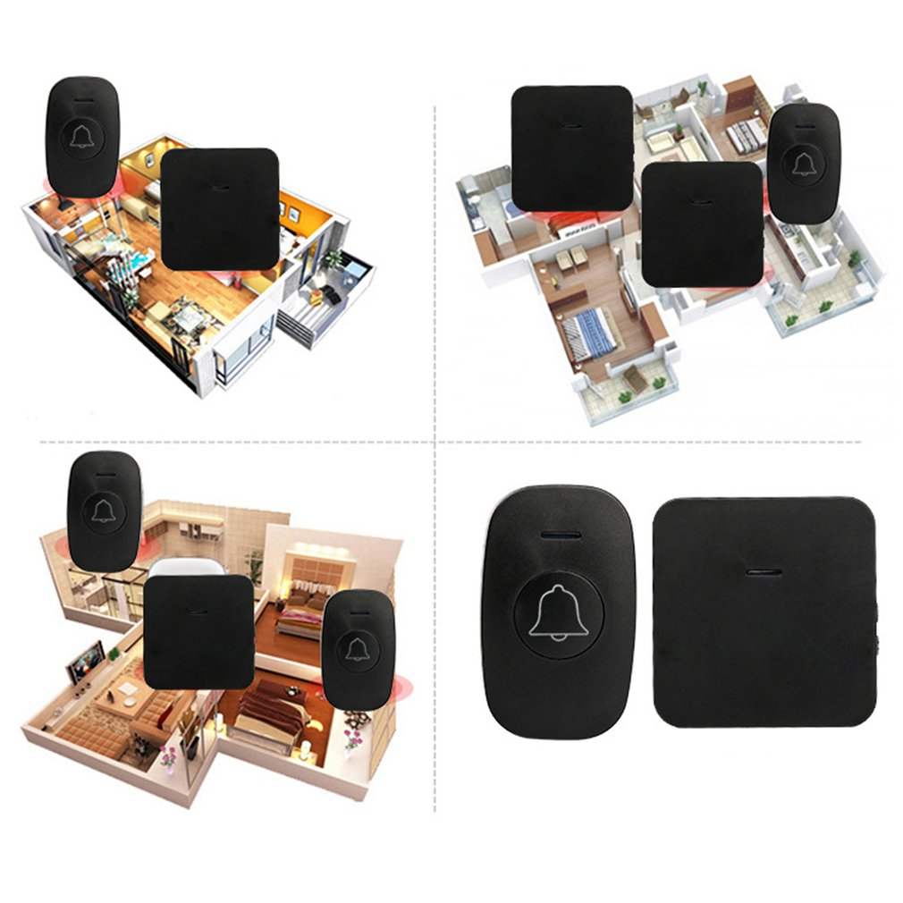 A1 Indoor Digital Wireless Mp3 Doorbell Remote 1 In 1 Remote Control Pager Smart Wireless Doorbell Old ManA1 Indoor Digital Wireless Mp3 Doorbell Remote 1 In 1 Remote Control Pager Smart Wireless Doorbell Old Man