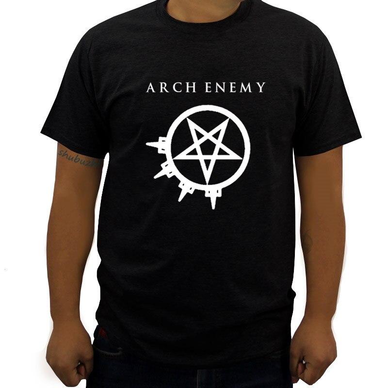 Cotton Tshirt Men New Arch Enemy Death Metal Pure F Metal Logo Male