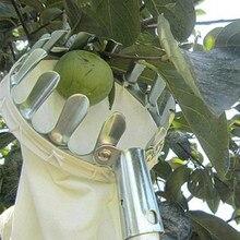 Metal meyve seçici meyve bahçesi bahçe elma şeftali yüksek ağaç toplama araçları meyve Catcher toplayıcı bahçe aletleri 15cm x 20cm