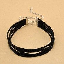 Women Gothic Jewelry Velvet layer Simple Black Choker Necklace hot