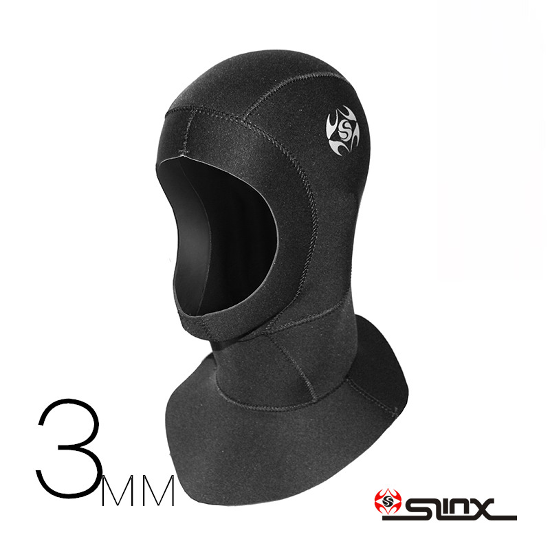 Slinx How 3mm Neoprene Men Women Scuba Diving Snorkeling Neck Hat Full Face Mask Waterproof Warm