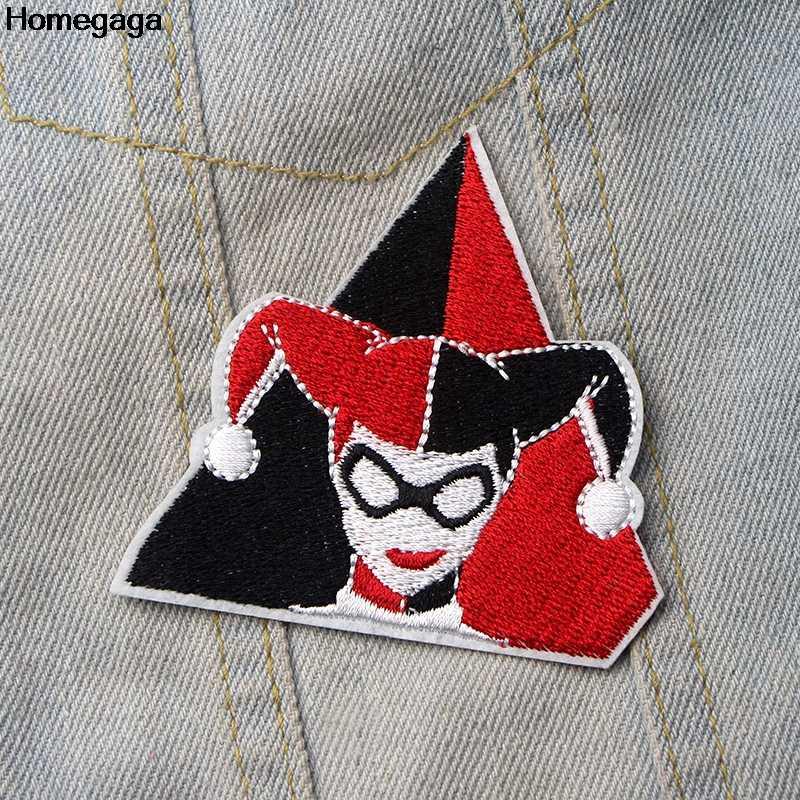 Homegaga كول فتاة هارلي كوين زين لتقوم بها بنفسك بقع لتقوم بها بنفسك الحديد على حذاء الجينز حقيبة قميص ملصقات الملابس المطرزة شارات D1920