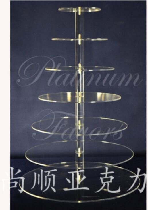 Акриловая подставка для торта для свадебной вечеринки/индивидуальный современный дизайн 7 ярусная акриловая подставка для торта, акрилова... - 2