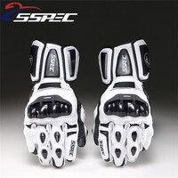 SSPEC Motorcycle Gloves Leather Carbon Fiber Winter Warm Motorcycle Waterproof Racing Gloves Motocross Luvas Moto Guantes