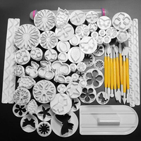 68Pcs Fondant Cake Decorating Sugarcraft Plunger Cutter Tools Mold Mould Cookies 6ZVS