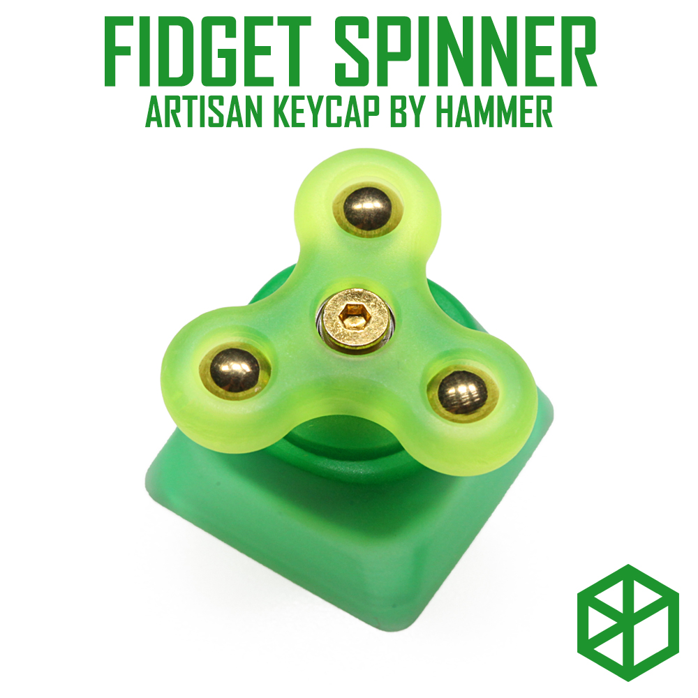 HAMMER FIDGET SPINNER ARTISAN KEYCAP Compatible With Cherry MX Switches And Clones Resin Body Black Yellow Green Blue Red Pink