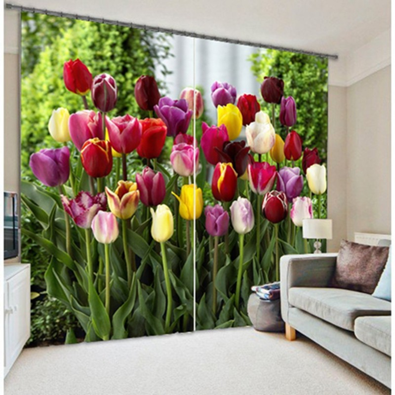 Modern Chinese Luxury 3D Blackout Flowers Curtains For Bedding room Living room Kitchen Hotel Drapes Cortinas para salaModern Chinese Luxury 3D Blackout Flowers Curtains For Bedding room Living room Kitchen Hotel Drapes Cortinas para sala