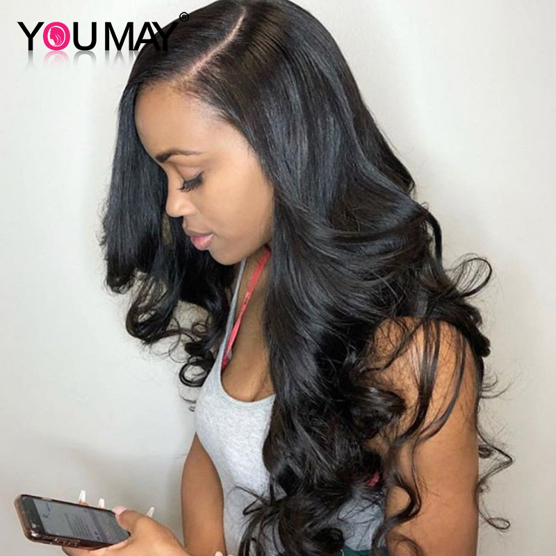 250 Density Lace Front Human Hair Wigs Pre Plucked Brazilian Body Wave 13x6 Lace Front Wigs