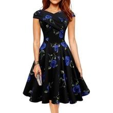 Frauen schlank floral dress ärmelloses bodycon-partei-cocktail mini dress