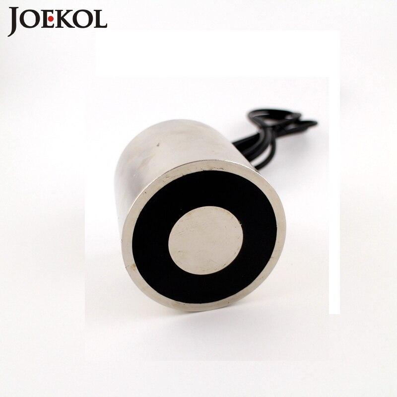 Nuovo arrivo JK80/80 DC 6 V 12 V 24 V Solenoide Ventosa Tenendo Elettrico Magnete di Sollevamento 260 KG elettromagnete su misura Non standard