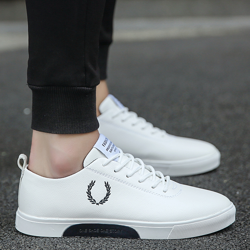 Men Shoes 2018 Spring/Autumn Fashion Solid Color Men Vulcanized Shoes Lace-up Casual Youth trend Shoes Men Sneakers 2