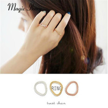 Magic Ikery The Best New Popular Wholesales Silver Plated Imported Brand Customized fashion Crystal Link Rings MKHG1010