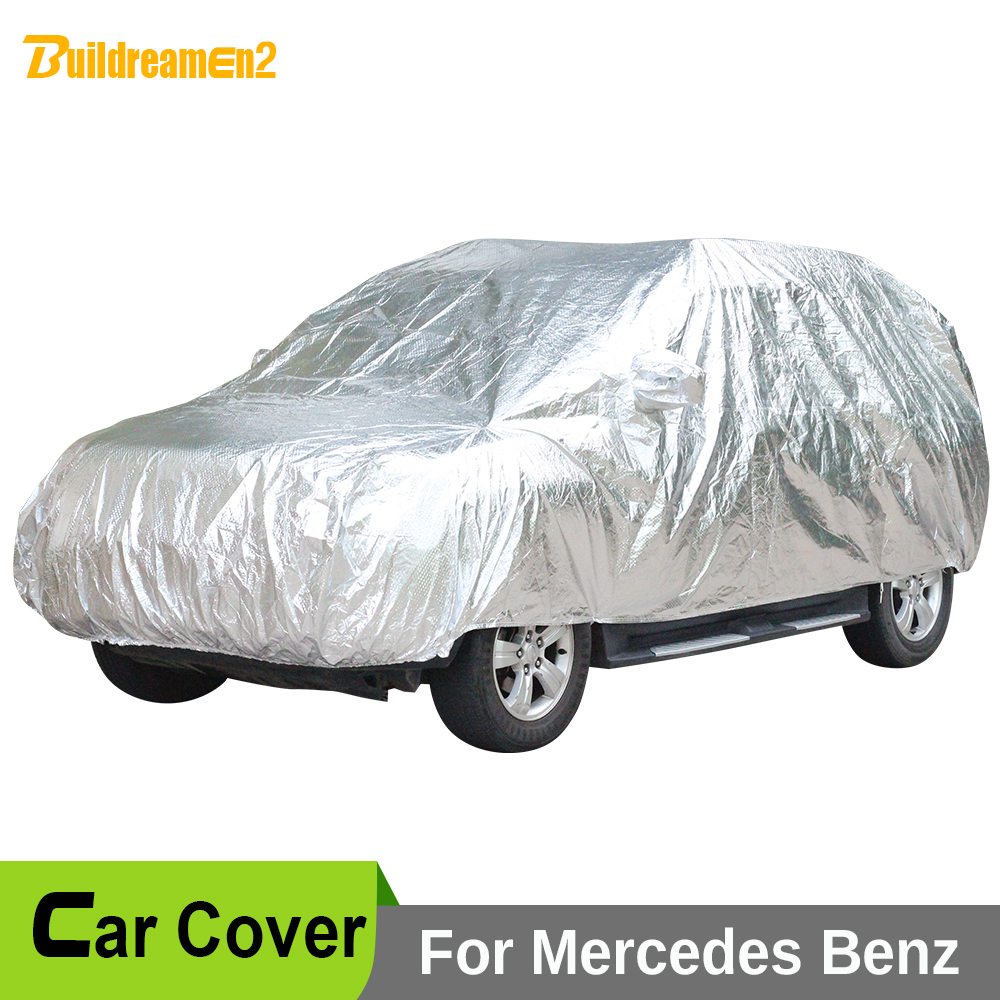 Buildreamen2 Car Cover Sun Snow Rain Hail Scratch Dust Protection Covers Waterproof For Mercedes-Benz GLA45 GLE63 GLS63 G55 AMG