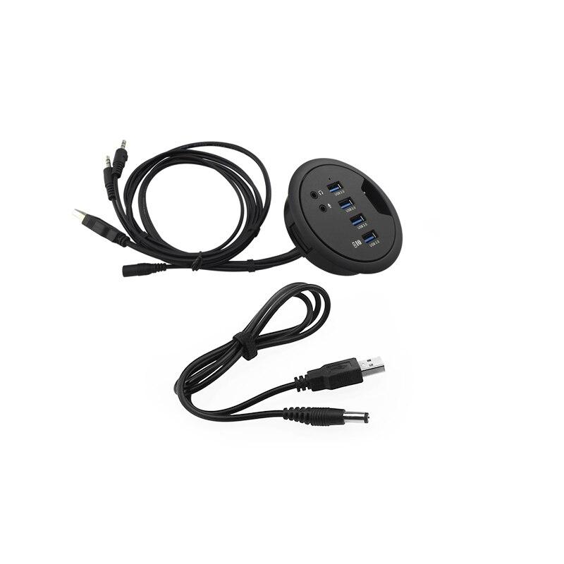 Новейший 92*78*24 мм USB3.0 + DC гаджеты компьютерный стол отверстие сплиттер Поддержка чтения данных Зарядки Расширенный ПК аудио Микрофон интерф